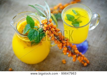 Juice From Ripe Sea-buckthorn Berries
