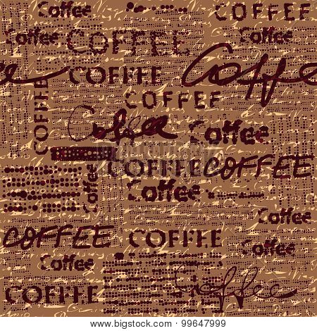 Coffee pattern for menu design.