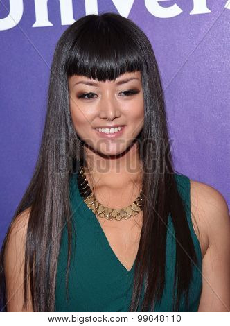 LOS ANGELES - AUG 13:  Kiki Sukezane arrives to the Summer 2015 TCA's - NBCUniversal  on August 13, 2015 in Hollywood, CA