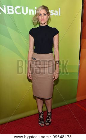 LOS ANGELES - AUG 13:  Charity Wakefield arrives to the Summer 2015 TCA's - NBCUniversal  on August 13, 2015 in Hollywood, CA