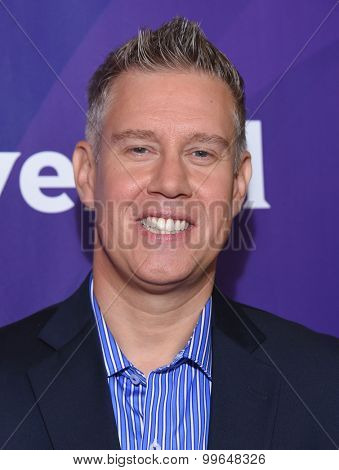 LOS ANGELES - AUG 12:  Ed Wasielewski arrives to the arrives to the Summer 2015 TCA's - NBCUniversal  on August 12, 2015 in Beverly Hills, CA