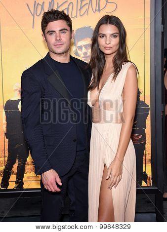 LOS ANGELES - AUG 20:  Zac Efron & Emily Ratajkowski arrives to the