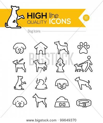 Dog Line Icons Series