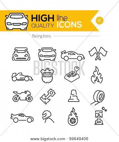Racing Line Icons
