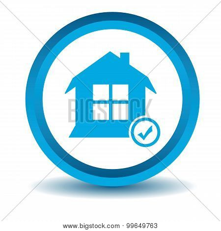 Select house icon, blue, 3D