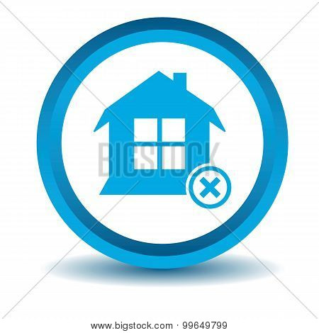 Remove house icon, blue, 3D