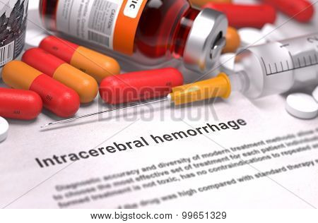 Intracerebral Hemorrhage Diagnosis. Medical Concept.