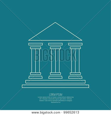 Abstract background with ancient building