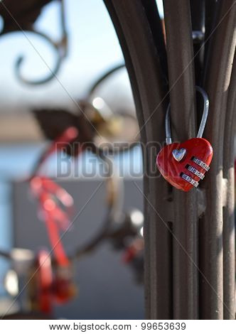 Red Combination Lock Heart