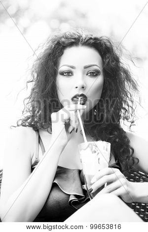 Sexual Woman With Dessert