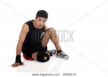 Young  Attractive Nepalese Man Athlete