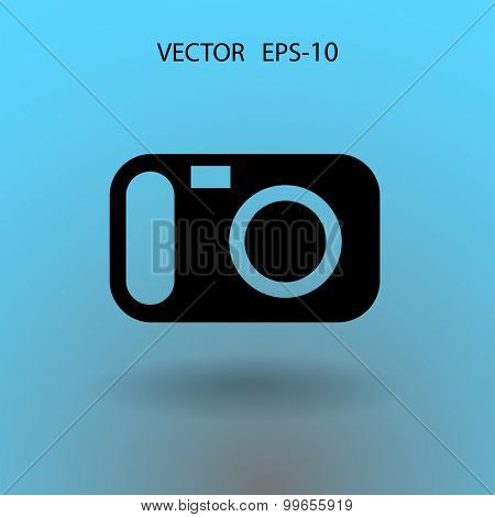 Flat icon of a camera
