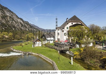 Houses With Alp Panorama In Bad Goisern