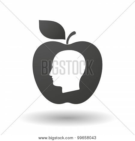 Apple Icon With A Male Head