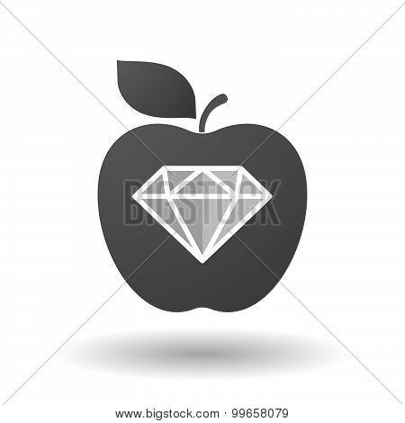 Apple Icon With A Diamond