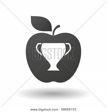 Apple Icon With A Cup
