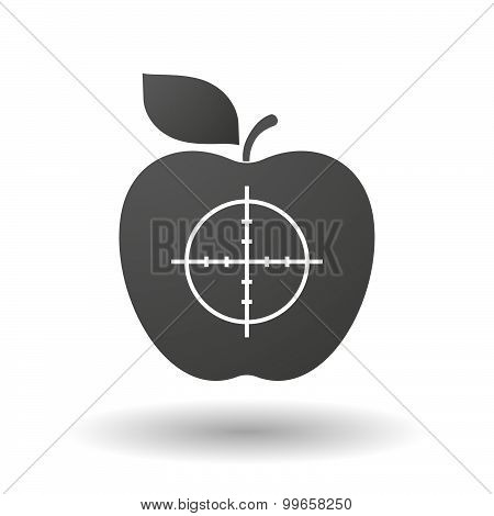 Apple Icon With A Crosshair