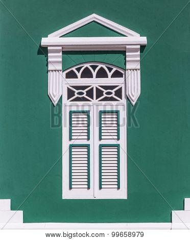 Green Caribbean Window