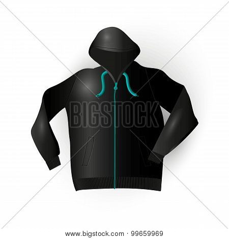 Black Sport Raincoat
