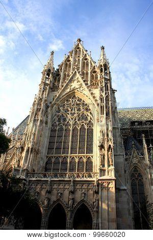 The Votive Church (votivkirche) Is A Neo-gothic Church Located On The Ringstraße In Vienna, Austria