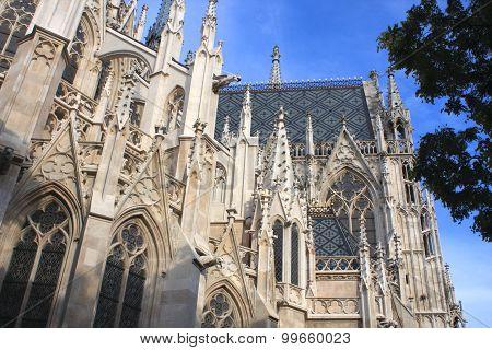 Detail Of Votive Church, Vienna, Austria