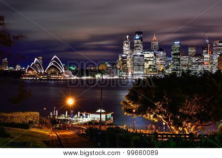 Sydney Australia - August 25, 2015 : View Of Sunset At Sydney Opera House