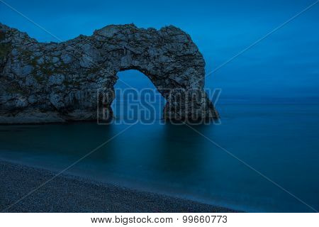Durdle Door Arch In Jurassic Coast In Dorset, Uk