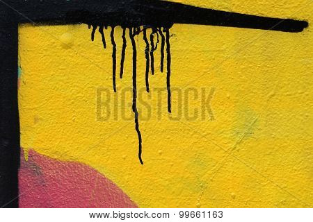 Black Lines Yellow Wall