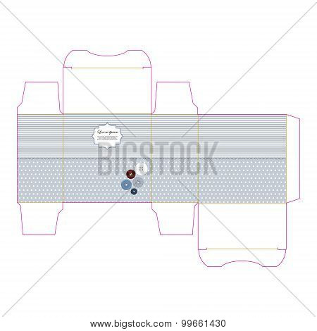 Decorative stylized gift box vector template