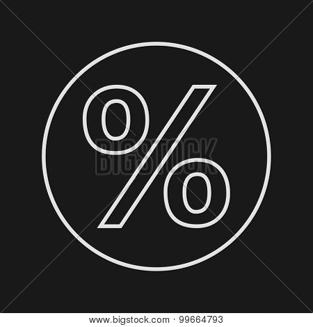 Thin Line Percent Web Icon