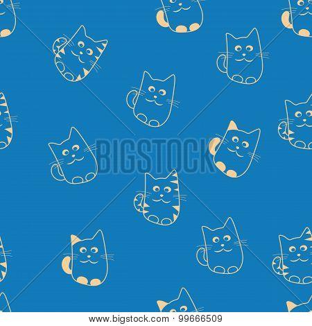 Cute Cats Seamless Patterm