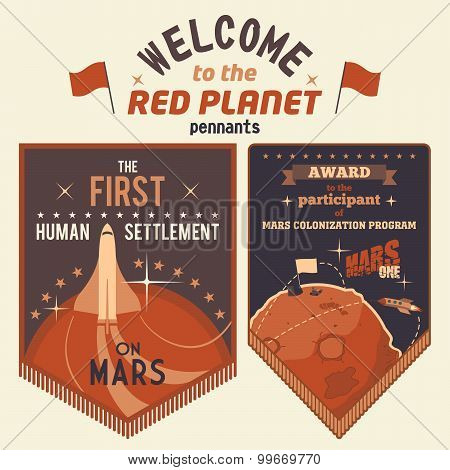 Award Pennants For Mars Colonization Program
