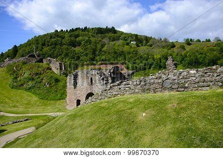 Ruins At Urquhart Castle