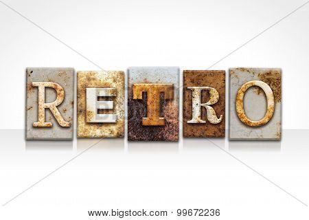 Retro Letterpress Concept Isolated On White