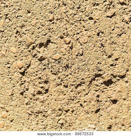 Texture Of Ocher Concrete Wall