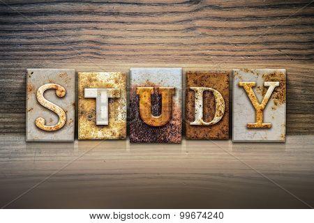 Study Concept Letterpress Theme