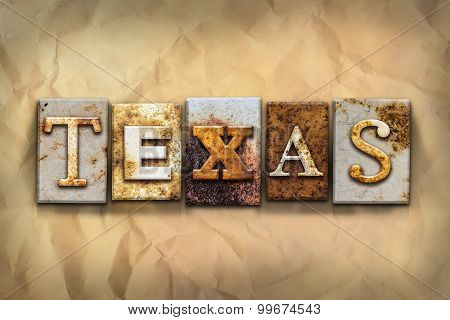 Texas Concept Rusted Metal Type
