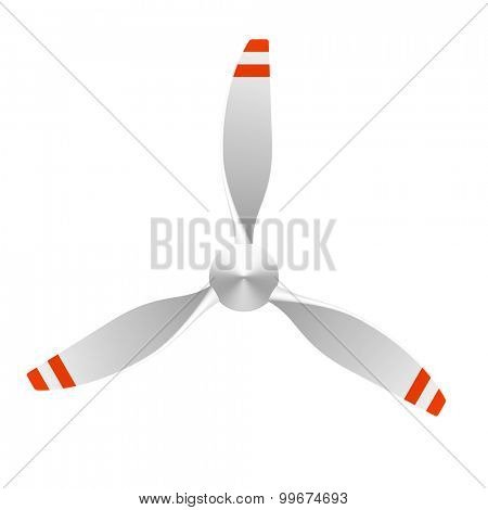 Airplane propeller with 3 blades. Vector.
