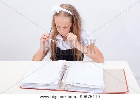 Schoolgirl with folder
