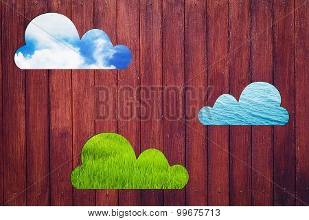 Wooden Wall Texture See Through Cloud With 3 Nature.