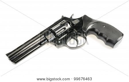 Revolver On White Background