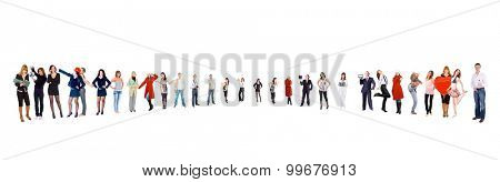 Team Together Isolated over White