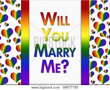 Lgbt Will You Marry Me Message