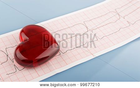 Cardiogram Pulse Trace And Heart Concept