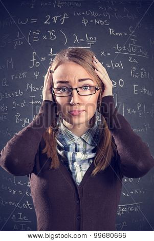 Desperate female student confused with math formulas