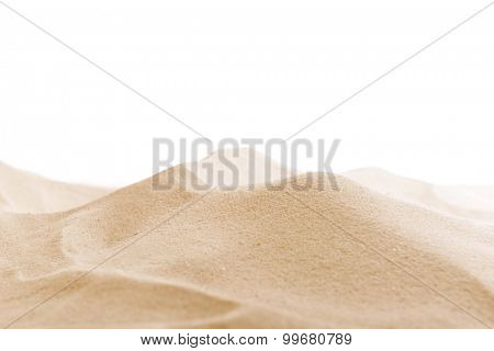 Sea sand isolated on white