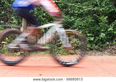 Sa Kaew, Thailand - Junel 28, 2015 : Bicycle Racing Competition