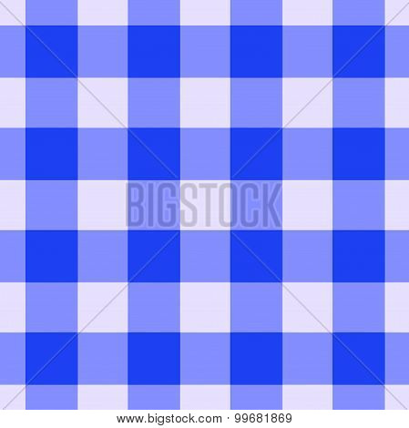 Blue Gingham Pattern Seamlessly Tileable
