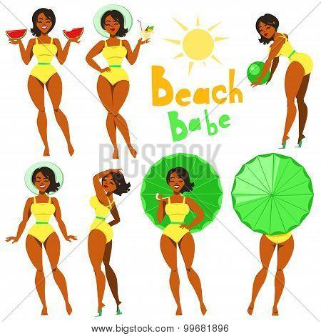 Beach Babe - clip-art