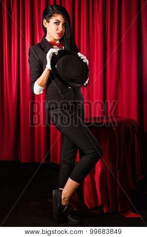 Beautiful Young Magician